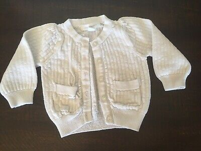Baby Girls White Pumpkin Patch Cardigan 0-3 000 00 3-6 Months
