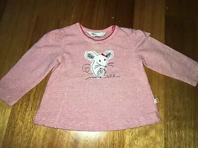 Baby Girl Bebe Long Sleeve Shirt Size 3-6 Months Excellent Condition