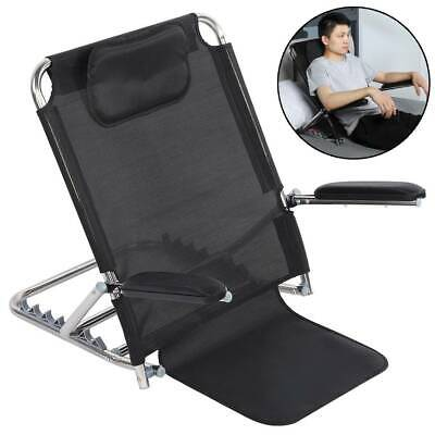 Adjustable Angle Back Rest Support Sit Up Bed Upright Aid Disability w/ Armrest