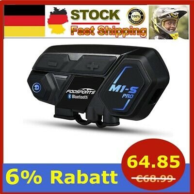 2000m M1-S Pro Motorrad Intercom Helm Bluetooth Headset Sprechanlage BT V 4.1 DE