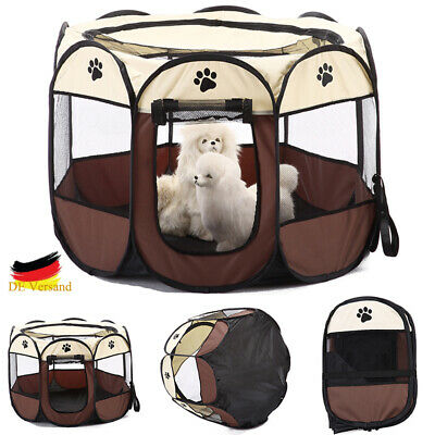 Hunde Zelt Faltzelt Welpen Katzen Octangle Transportbox Outdoor Camping Tragbar