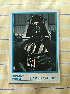 1984 Kellogg's - Star Wars - 1x Stickers White Border Card Vader # 8 - NM