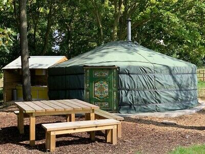 Mongolian Yurt Glamping Holiday/Break In Wiltshire. 2 Miles From Stonehenge