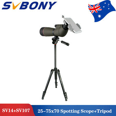 SV14 25-75x70mm 45° Angled Zoom Spotting Scope Porro FMC BAK4+SV107 Tripod AU