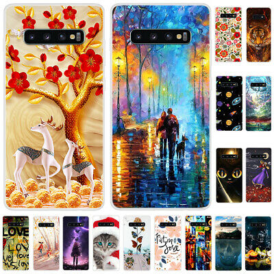 For Samsung Galaxy S10 S10 S9 S8+ S7 Slim Soft Silicone Painted TPU Case Cover