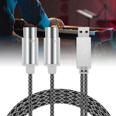 High Quality 5-PIN MIDI to USB Cable Electronic Drum Piano Music Editing Line