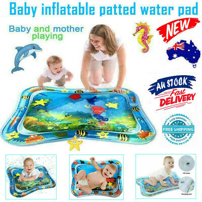 Inflatable Fun Baby Water Play Mat Infants Toddlers Tummy Time Sea World Supply