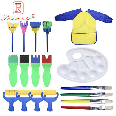 Kids Paint Brushes 18 pcs Sponge Painting Brush Tool Set for Children Toddlers