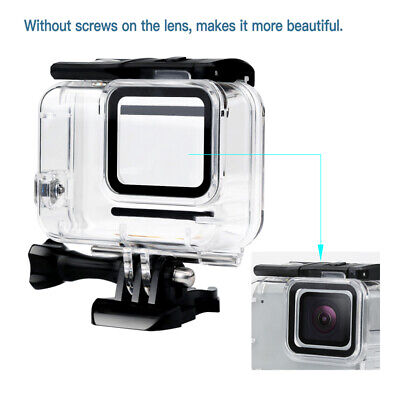 Waterproof Diving Camera Accessories Housing Case for GoPro Hero 7 Silver/White