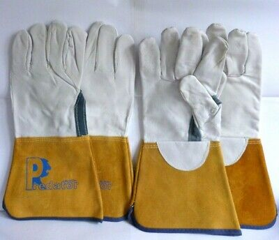 2 Pairs of XL Predator Leather Welding, Gardening, DIY Work Gloves. Bundle.