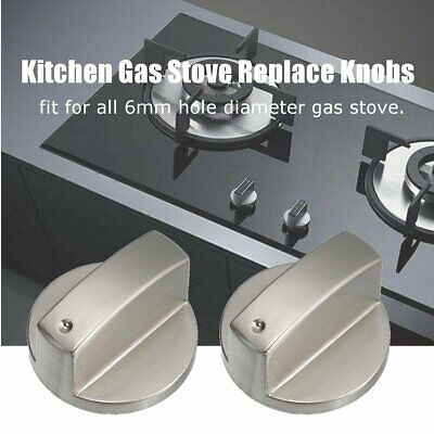 6mm 0 Degree Home Kitchen Gas Stove Knob Cooker Cooktop Metal Switch Control YG