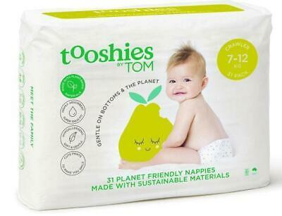 Tooshies by TOM Organic Nappies Crawler 7-12kg 31 Pack
