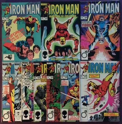 Iron Man #184 to #195 (2 missing) Marvel 1984. 10 x issues.