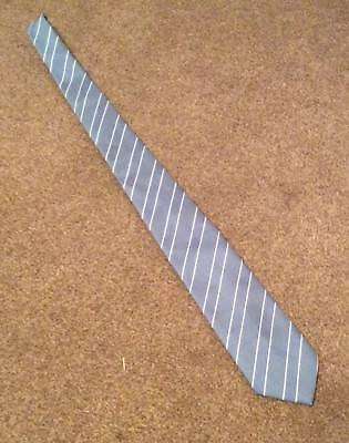 Hardy Amies Blue and White Striped Tie