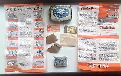 Vintage Collectable Tin Bundle - Vintage John Bull Mend A Tear & Songster Tins