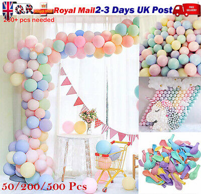 "100X Macaron Candy Colored Ballons Pastel Latex Balloons 10"" Party Decor Kit Lot"