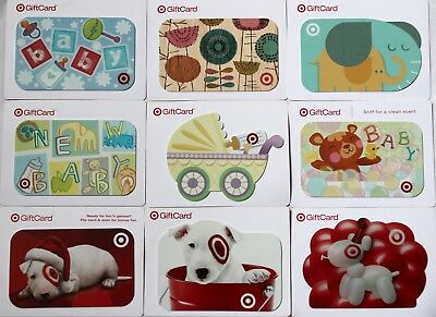 Lot of 9 Target Supermarket Gift Card $0 No Value Collectible Set New