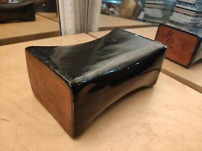 Very Rare Antique Chinese Leather Lacquerware Opium Pillow Collector's Item