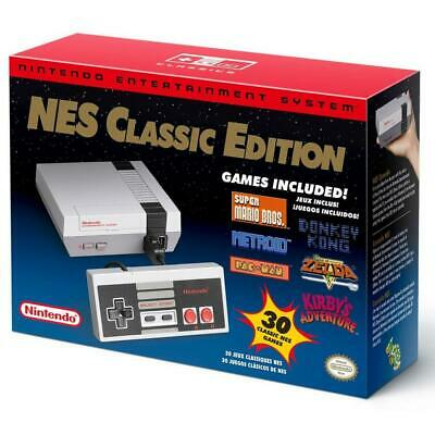 Authentic Nintendo Classic Edition NES Mini Game Console USA Brand New 30 Games