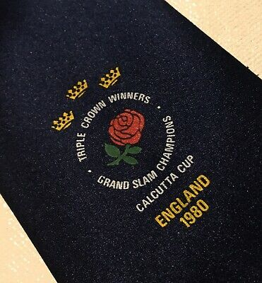 England Rugby Calcutta cup 1980 Triple Crown winners Grand Slam Champions tie