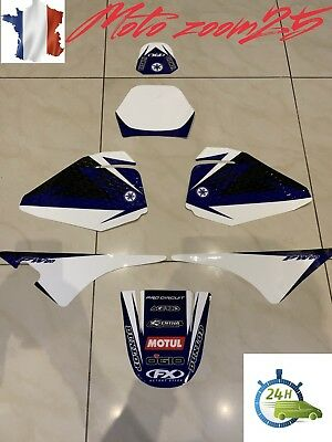KIT DECO Bleu Marque YAMAHA PW80 PW 80 autocollants sticker 80PW piwi Graphics