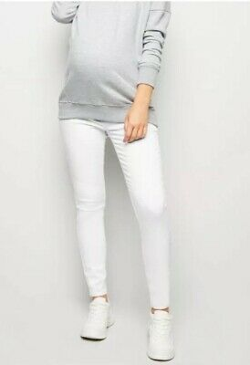 New Look - Maternity White Over Bump Skinny Emilee Jeggings - Size 12 32L - BNWT