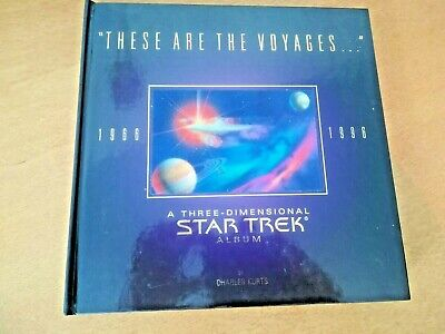 """STAR TREK 3D hardback book. STUNNING.""""These are the Voyages..."""" 1966-1996. NEW"""