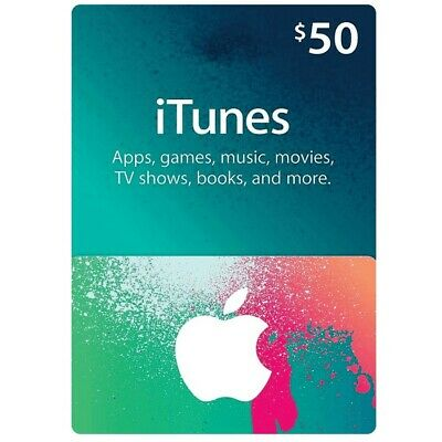 $50 CAD iTunes card