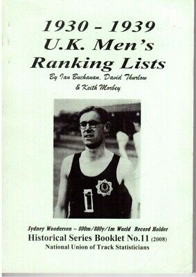 1930-1939 UK men's Ranking Lists