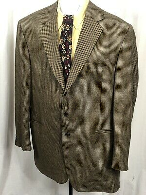 Gianfranco Ruffini Mens Sport Coat Blazer Sz 48L Long Camel Hair Blend ITALY