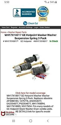 GE WH17X10017 Suspension Kit - 3 Pack
