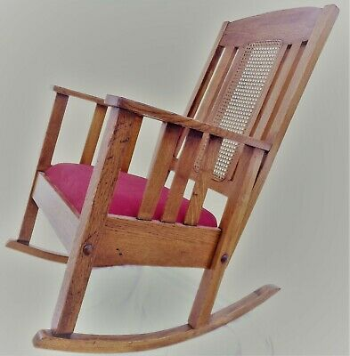 Mission Arts & Crafts Oak Rocking Chair