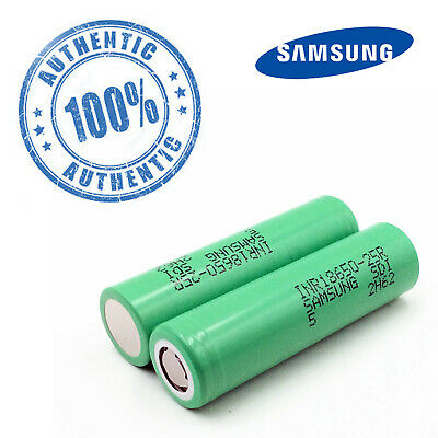 🔥2x Authentic SAMSUNG 25R 18650  Rechargeable Battery 🔥