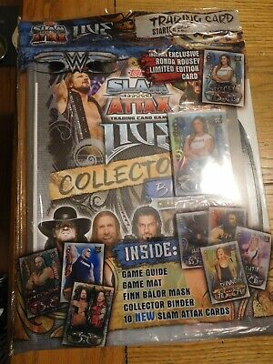WWE Slam Attax Live Topps Starter Pack Album With Limited Ed Ronda Rousey New