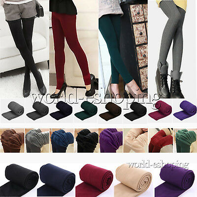 Womens Winter Warm Stretchy Legging Slim Elasticity Thermal Thick Trouser Pants