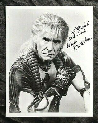 Ricardo Montalban Khan Star Trek Original Series Signed Photo 8X10 Auto