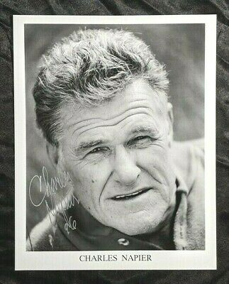 Charles Napier Adam Star Trek Original Series & DS9 Signed 8X10 Photo