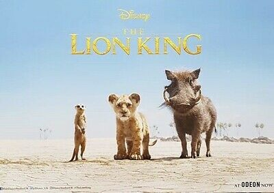 Lion King Limited Edition Poster Odeon Exclusive A3 Timon Pumbaa Simba