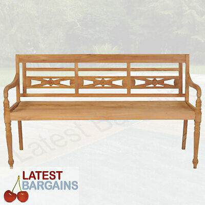 3 Seater Outdoor Wooden Garden Park Bench Patio Seat Chair Timber Furniture
