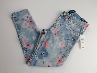 NWT Girl's Floral Superdenim Stretch Jeggings Jeans Size 6 MSRP $45 New