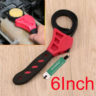 2PC RUBBER STRAP Wrench Set 500&600mm Length Adjustable Oil