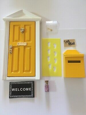 Fairy Door Gift Set Yellow Elf Door Santa Door