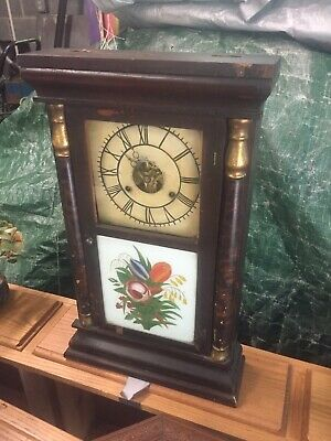 Antique Seth Thomas Weight Driven Mantle Clock Working