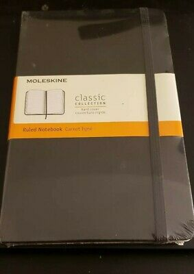 Moleskine Classic Notebook Large Ruled Black Hard Cover 5 X 8.25 by Moleskine