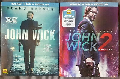 John Wick + John Wick Chapter 2 Blu-ray Set Pre-owned Great Condition