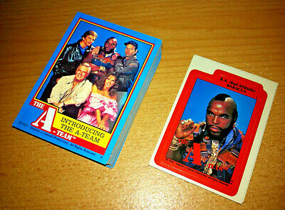 The A-Team - Complete Trading Card + Sticker Set (66/12) - 1983 Topps - NM
