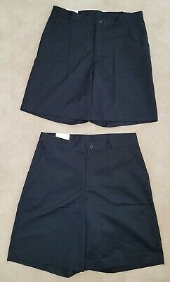 NWT 2 Pairs Classroom School Uniforms Shorts Lot Size 15/16 Navy Blue Bermuda