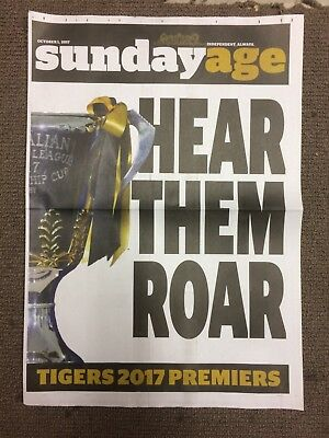 2017 Grand Final Richmond Tigers news stand poster- Sunday Age