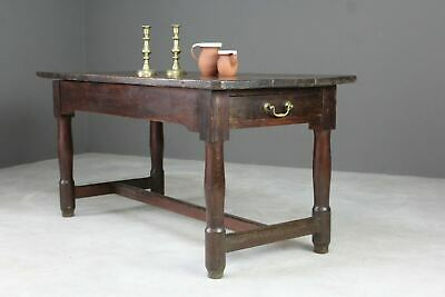 18th Century Antique Pine Continental Refectory Kitchen Side Hall Dining Table