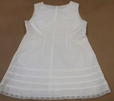 Sweet Vintage Child's White Cotton Petticoat With Lace Trim
